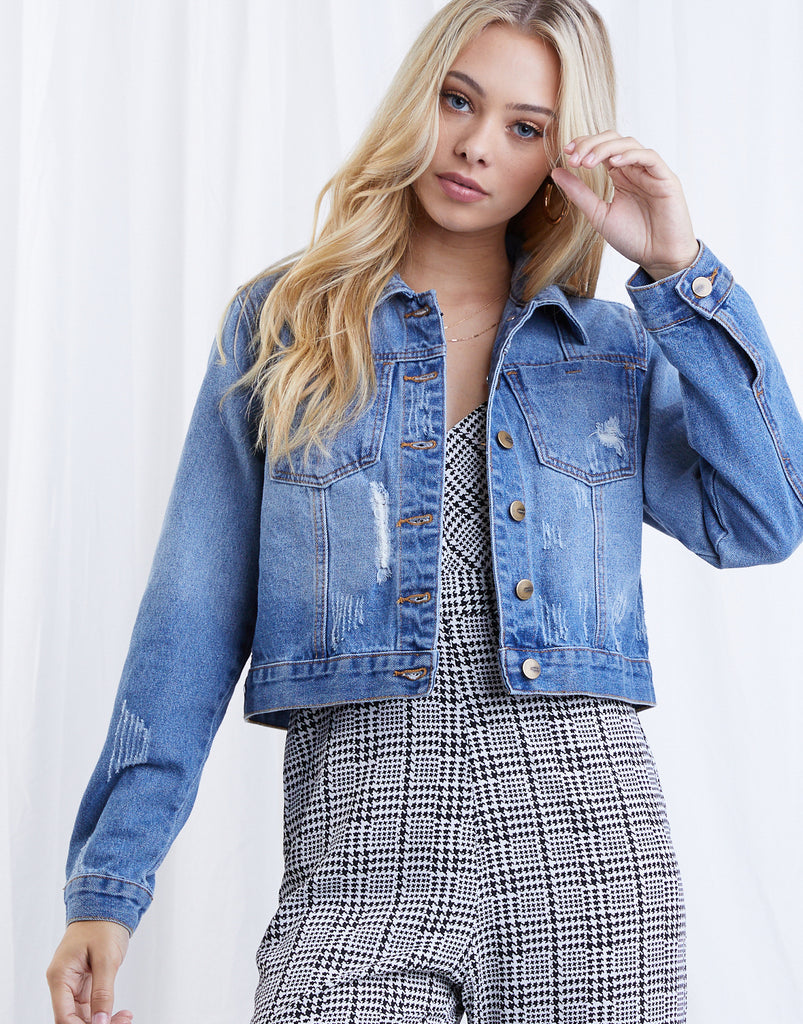 Springtime Staple Denim Jacket Outerwear Blue Denim Small -2020AVE