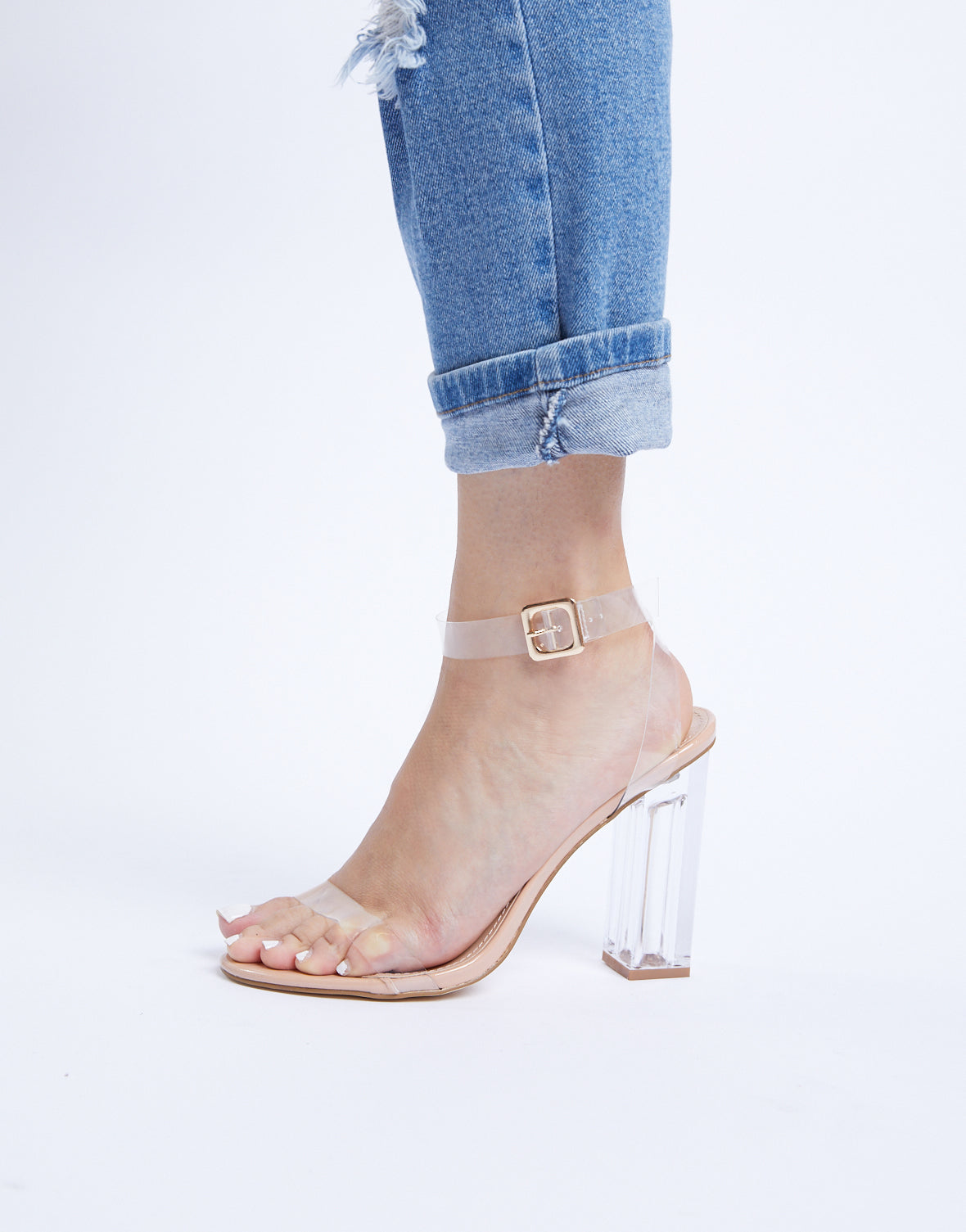 Square Goals Clear Heels