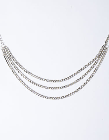 Statement Silver Chain Belt