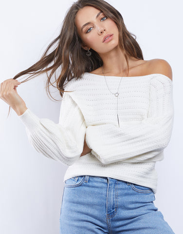 Stephanie Off The Shoulder Sweater