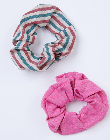 Striped Up Scrunchie Set