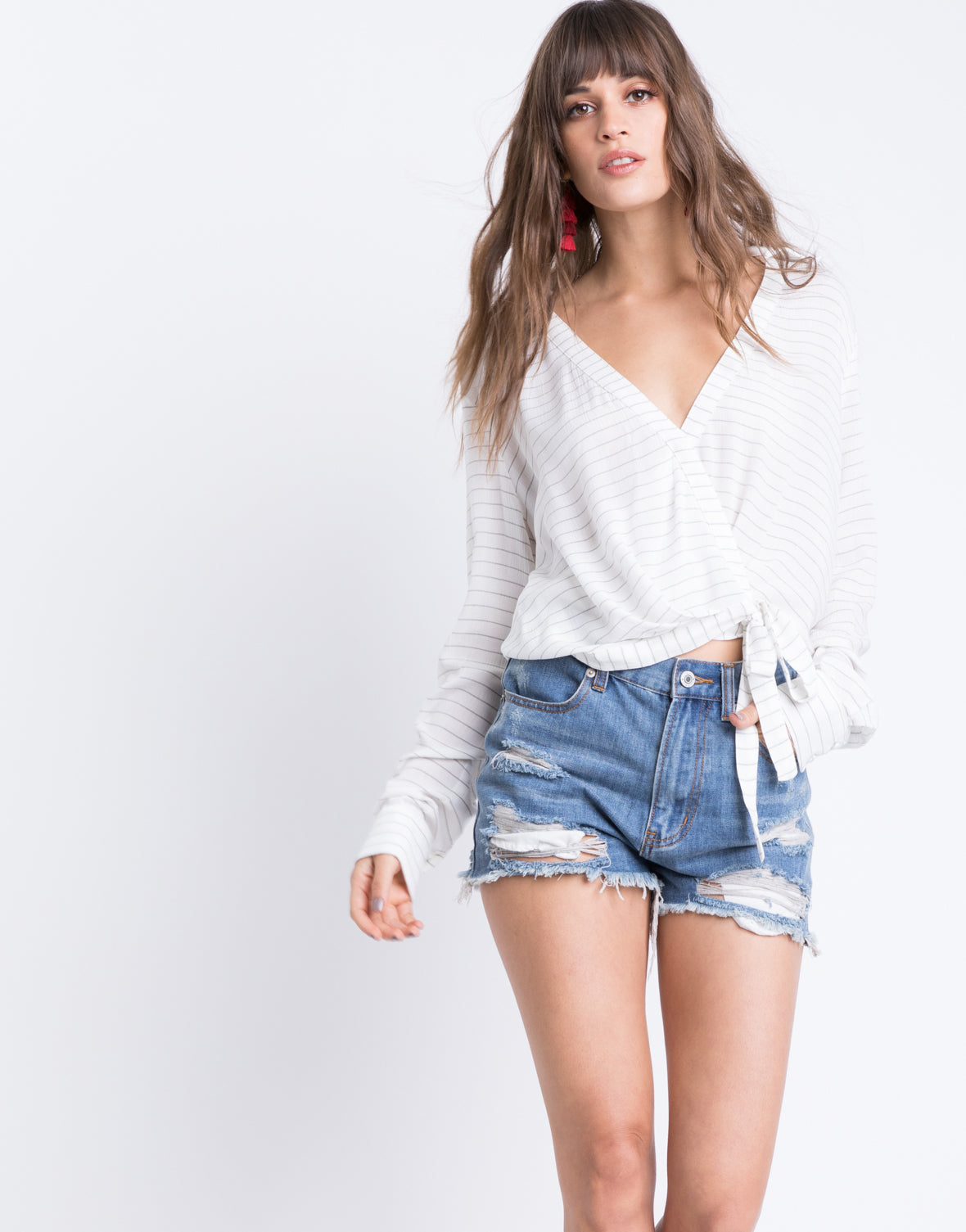 Summer Distressed Denim Shorts