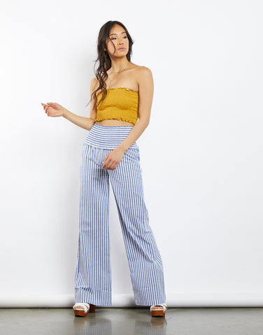 Summer In Santorini Striped Pants