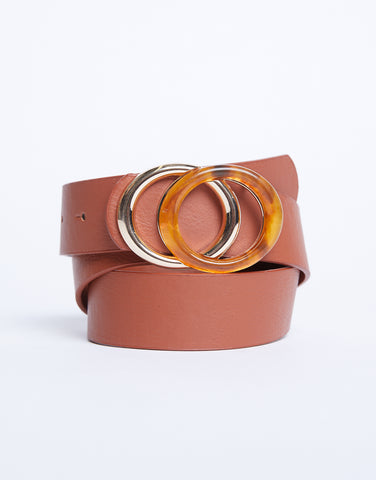 Summer Vibes Tortoise Buckle Belt