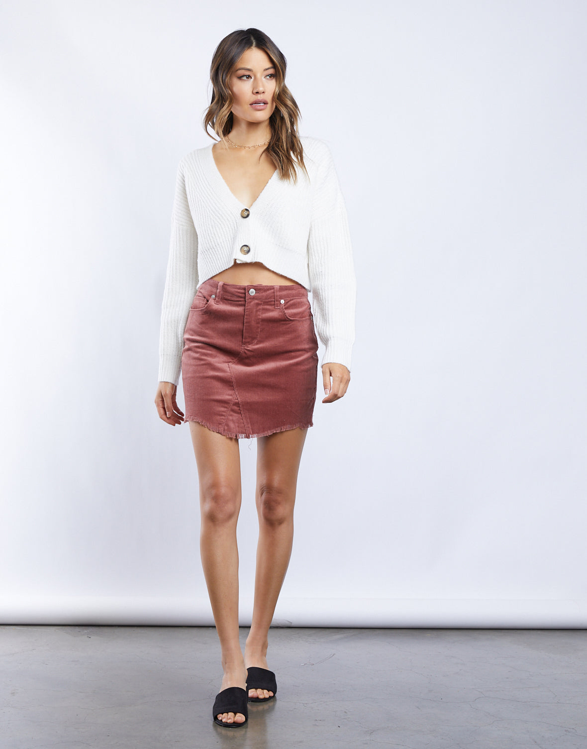 Sweet Corduroy Mini Skirt