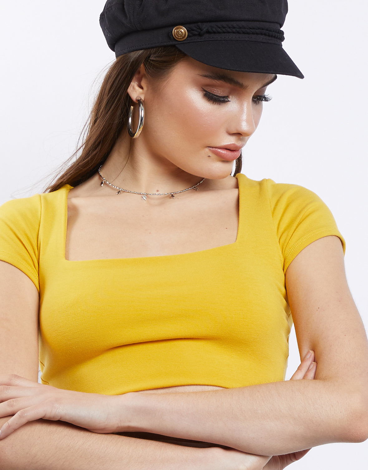 Alissa Square Neck Crop Top