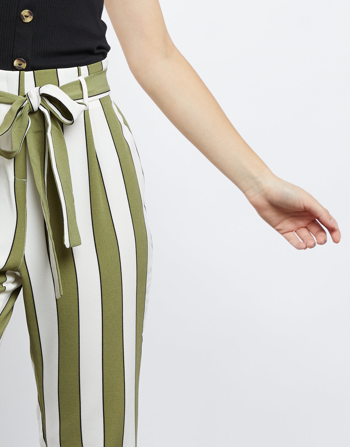 Abigail Striped Paper Bag Pants