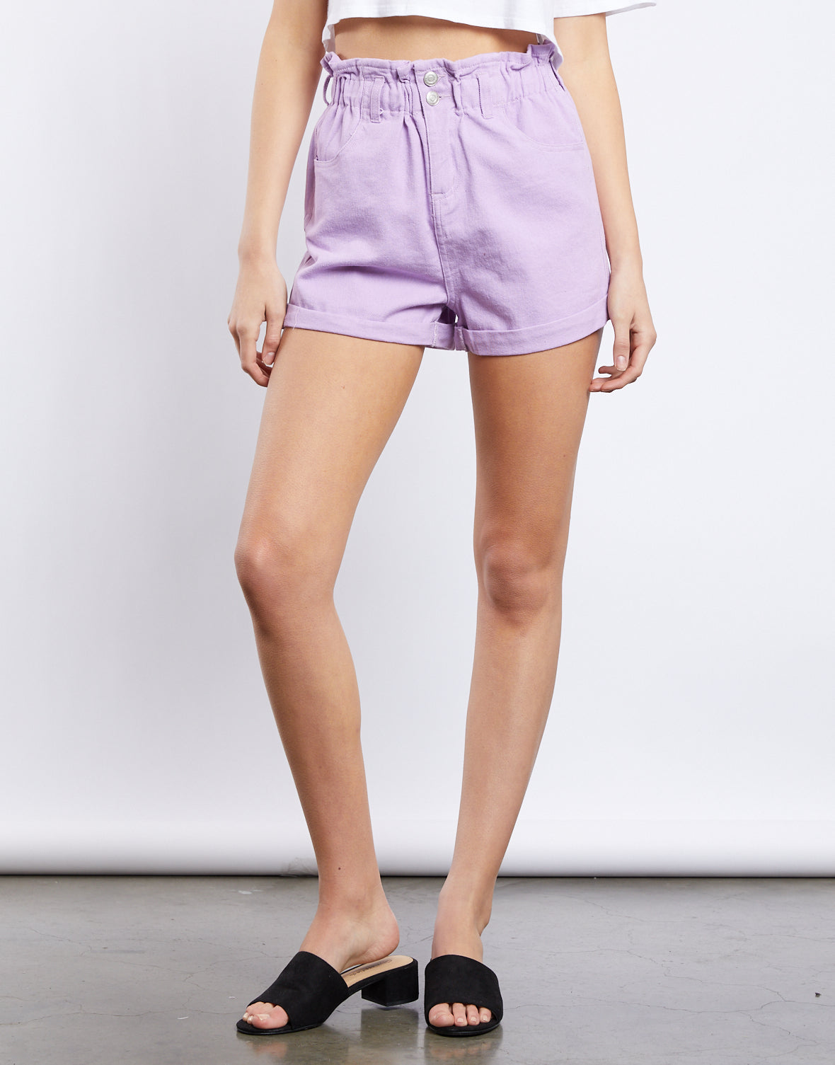 Tamara Denim Paper Bag Shorts