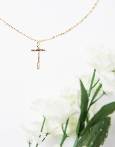 Textured Cross Necklace