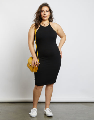 Plus Size Alexa Halter Racerback Dress