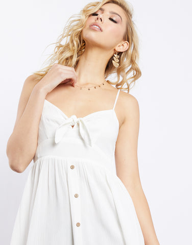 Alexis Tie Front Button Down Dress
