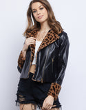 The Barrymore 90's Fur Leather Jacket