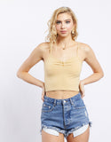 Cali Girl Button Front Cropped Top