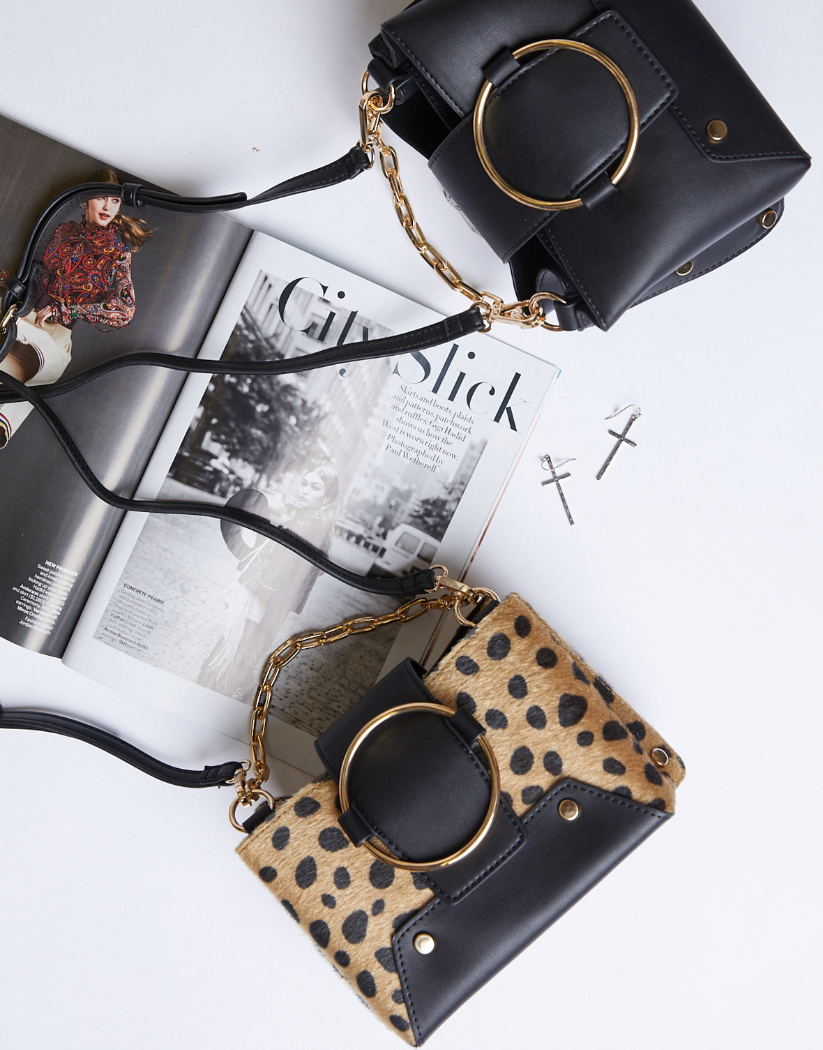 The Cat's Meow Leopard Ring Bag