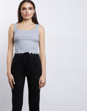 Jessica Scoop Neck Cropped Tank