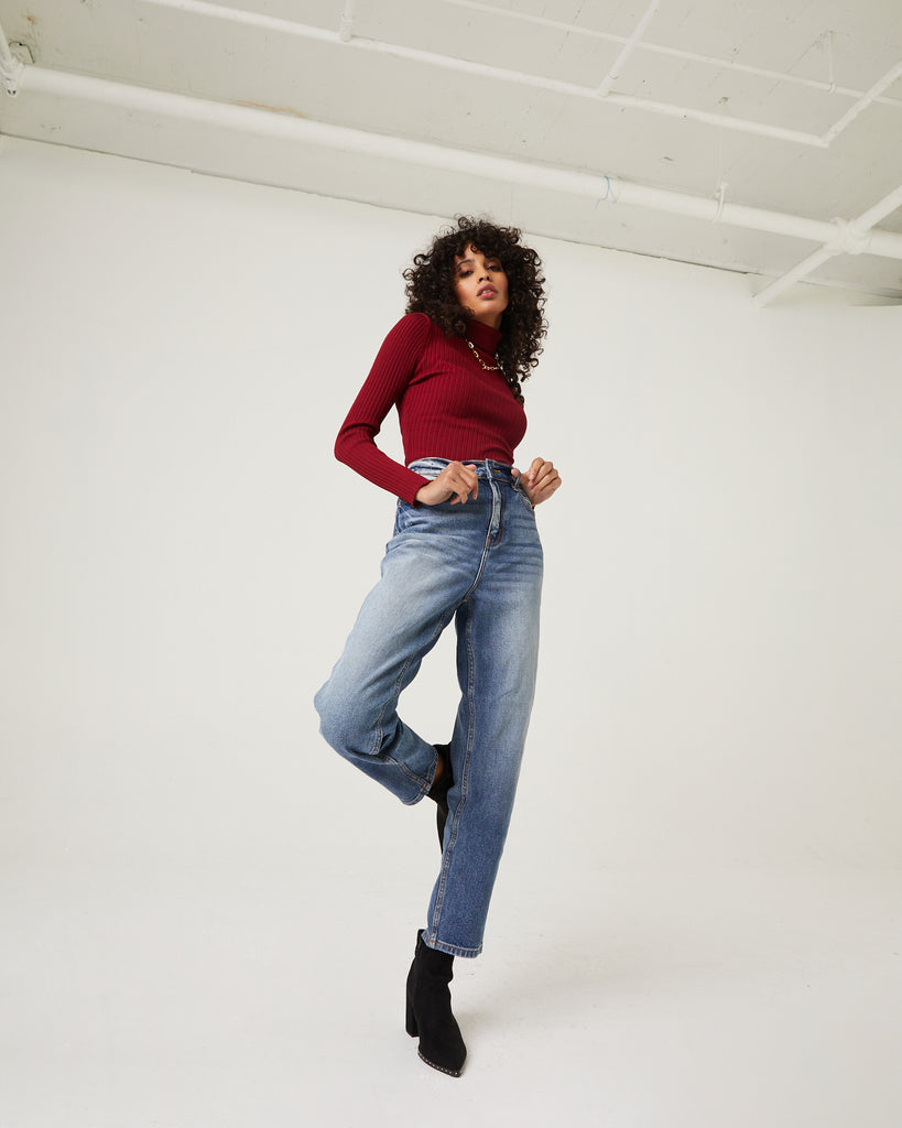Ombre High Rise Mom Jeans Bottoms -2020AVE