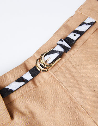 Thin Zebra Print belt