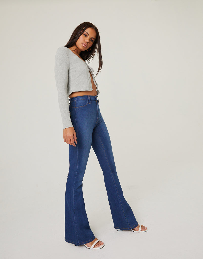 Stretch Flare Jeans Bottoms -2020AVE