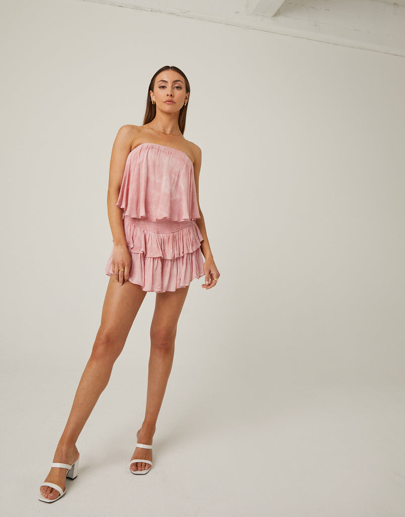 Tiered Ruffle Romper Rompers + Jumpsuits -2020AVE