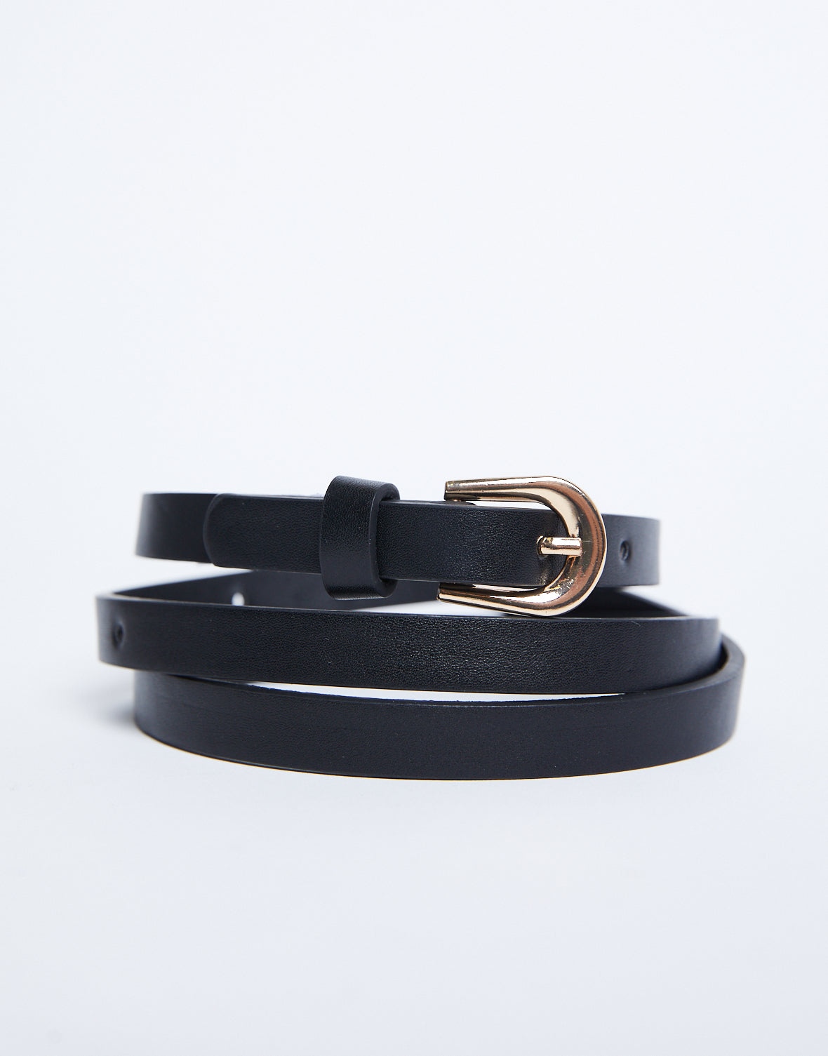 Timeless Thin Faux Leather Belt