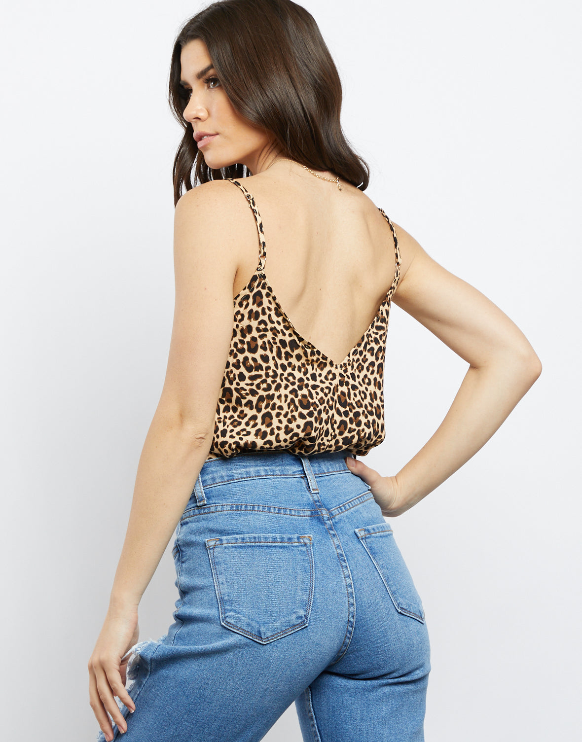 Touch Of Lace Leopard Print Cami