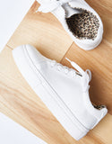 Touch Of Leopard White Out Sneakers