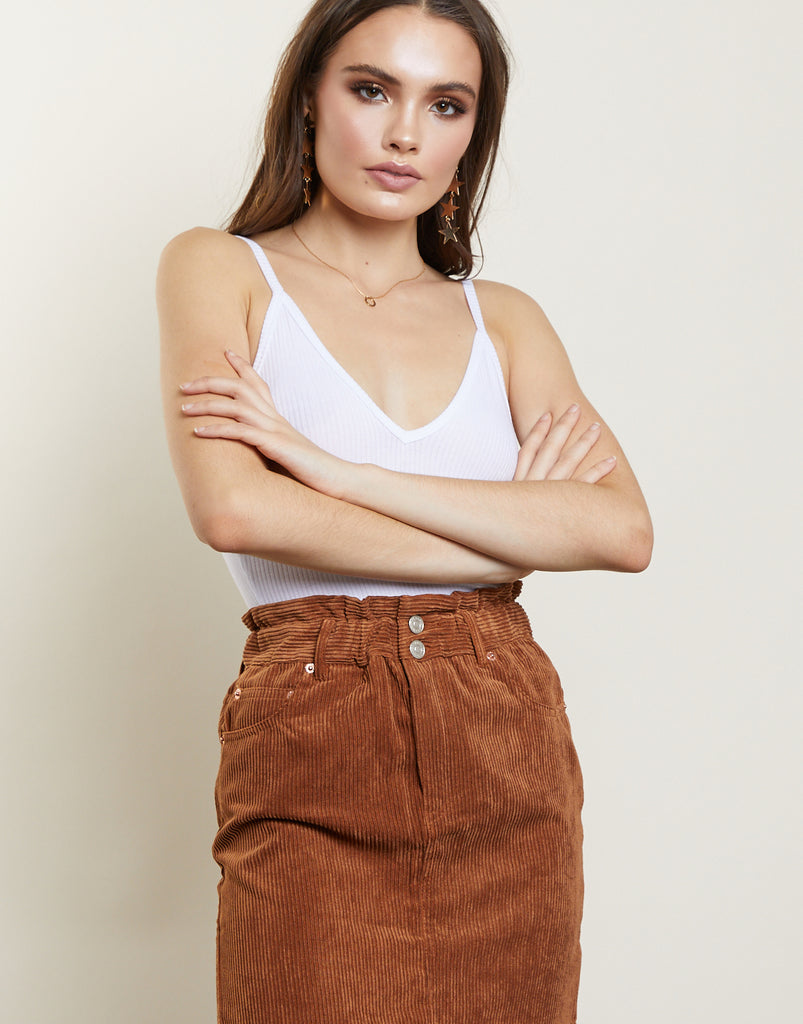 Track Re-cord Corduroy Skirt Bottoms -2020AVE