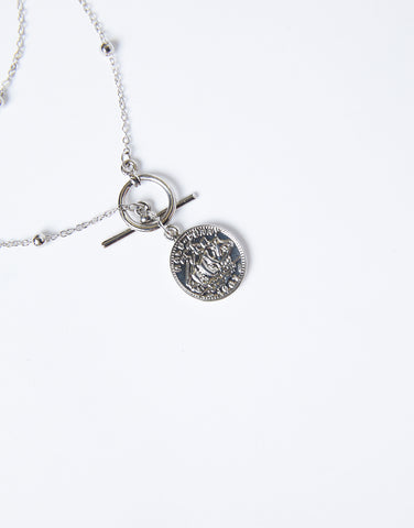 Treasure Chest Layered Coin Necklace