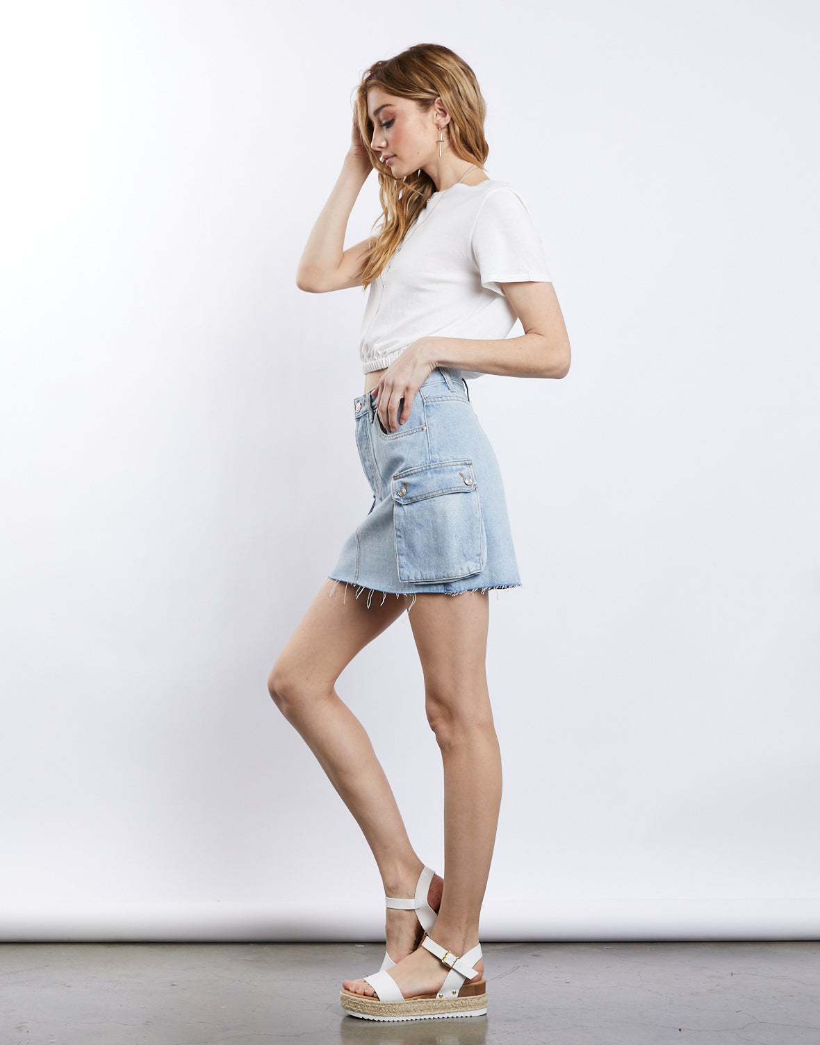 Trouble Maker Denim Skirt