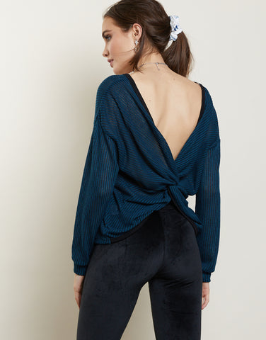 Twisted Blues Top