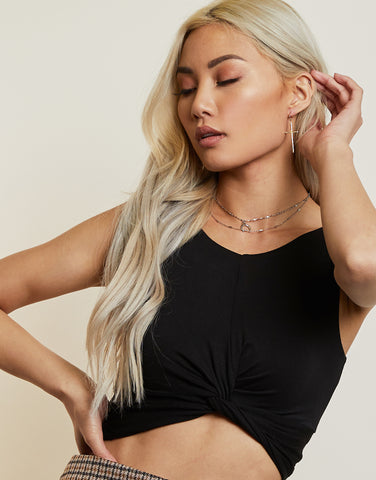 Twisted Cropped Tank Top