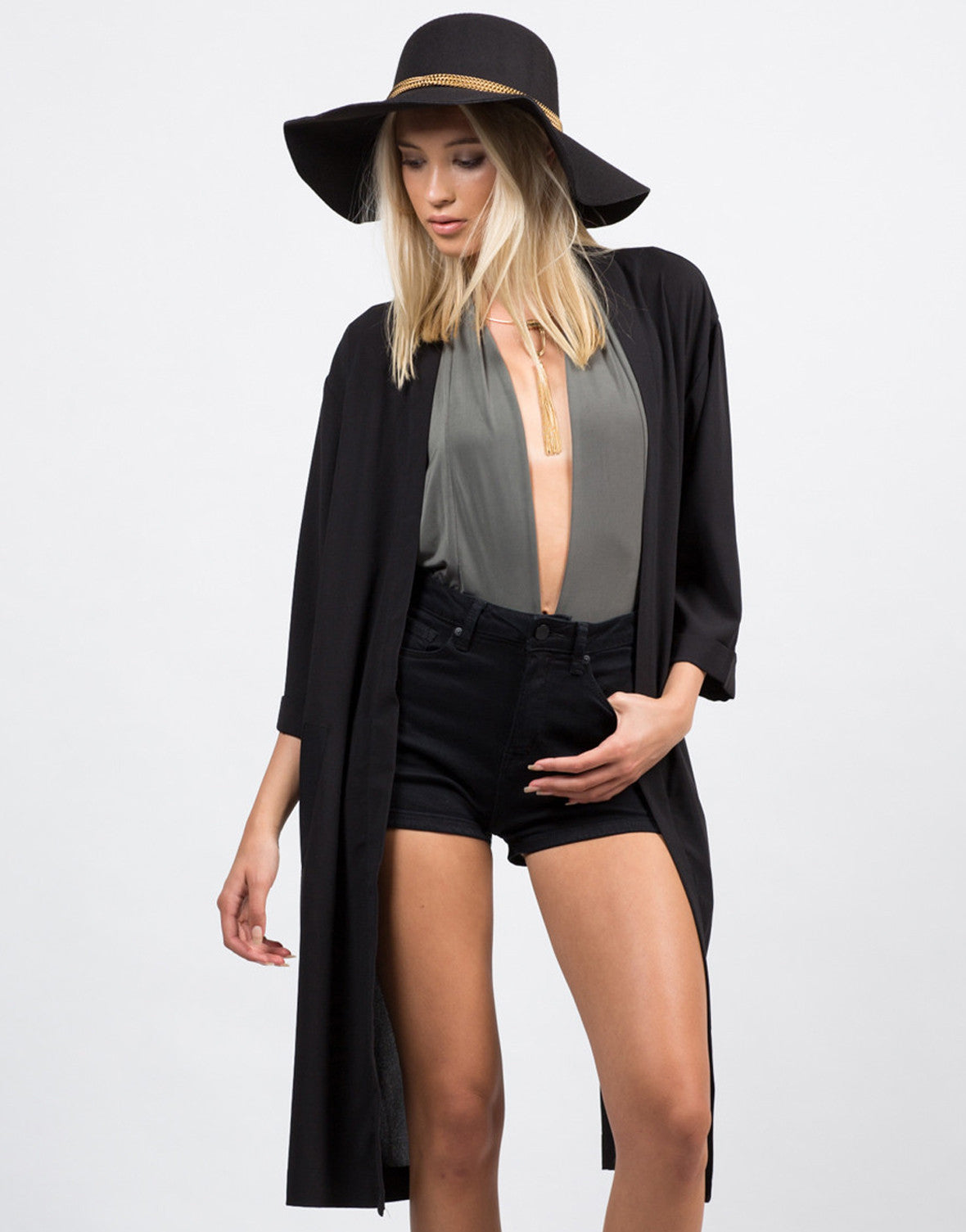 Front View of Envelope Back Slit Jacket