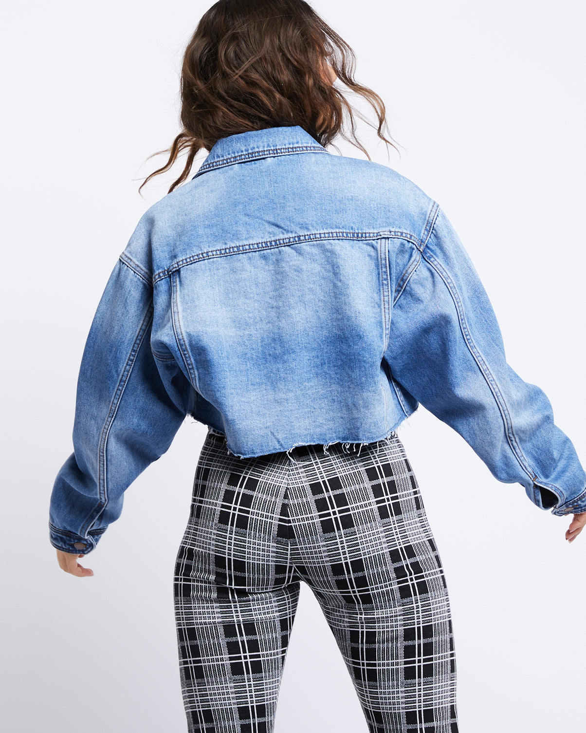 Vintage Cut Cropped Denim Jacket