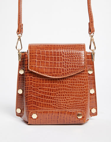 Vintage Vibes Crocodile Shoulder Bag
