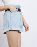 Wake Up Call Denim Paperbag Shorts