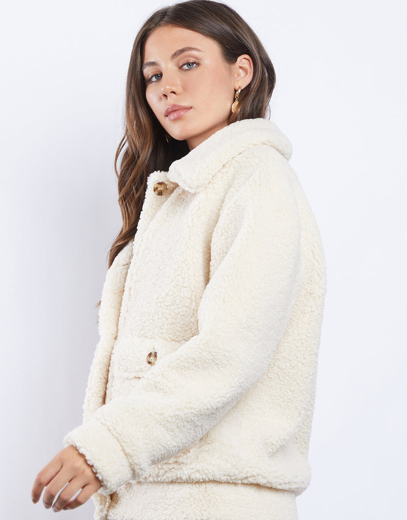 Warm Fuzzies Sherpa Coat Outerwear -2020AVE