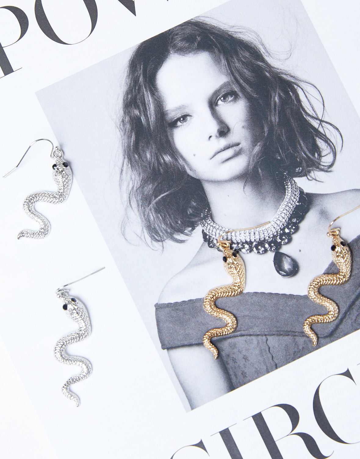 Wavy Snake Earrings