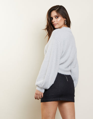 Weekends Only Fuzzy Sweater