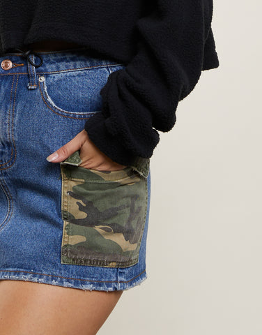 West Point Denim Mini Skirt