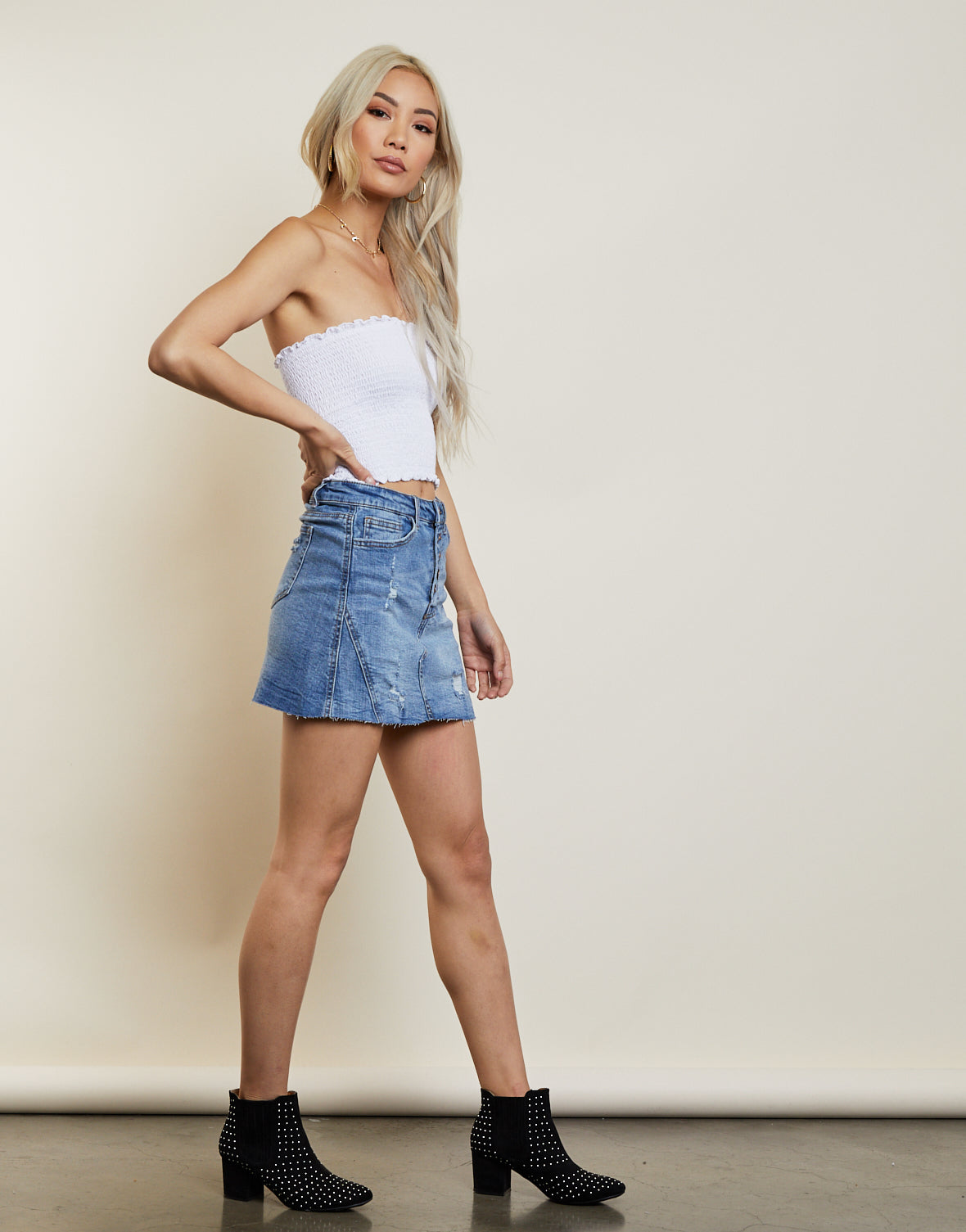 Western Outlaw Denim Skirt