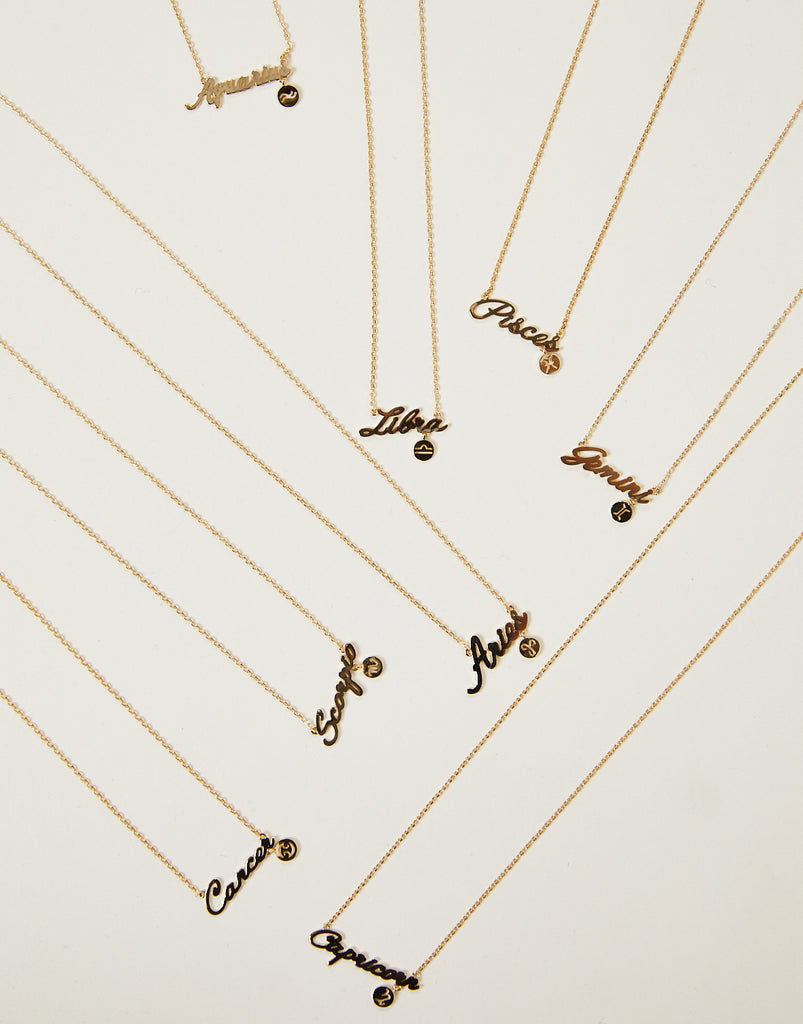 What's Your Sign Zodiac Necklace Jewelry Gold Gemini -2020AVE