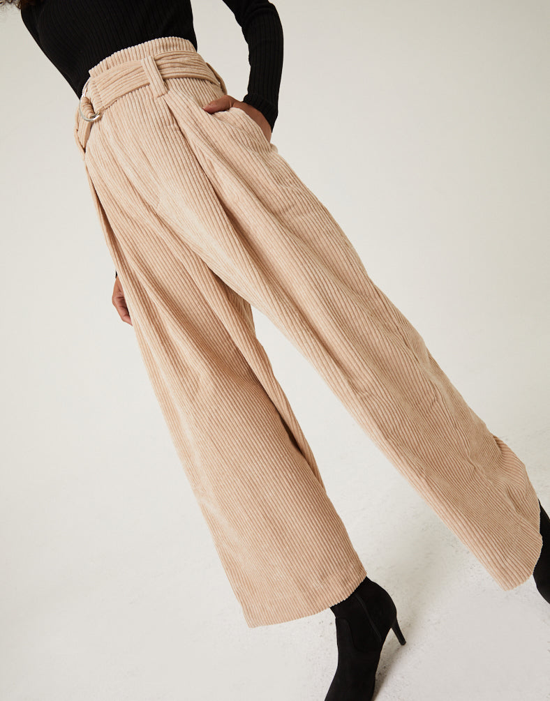 Wide Leg Corduroy Pants Bottoms -2020AVE