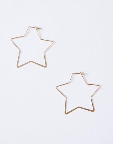 Wishing Star Hoop Earrings