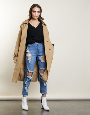 Within Range Long Oversized Trench Coat