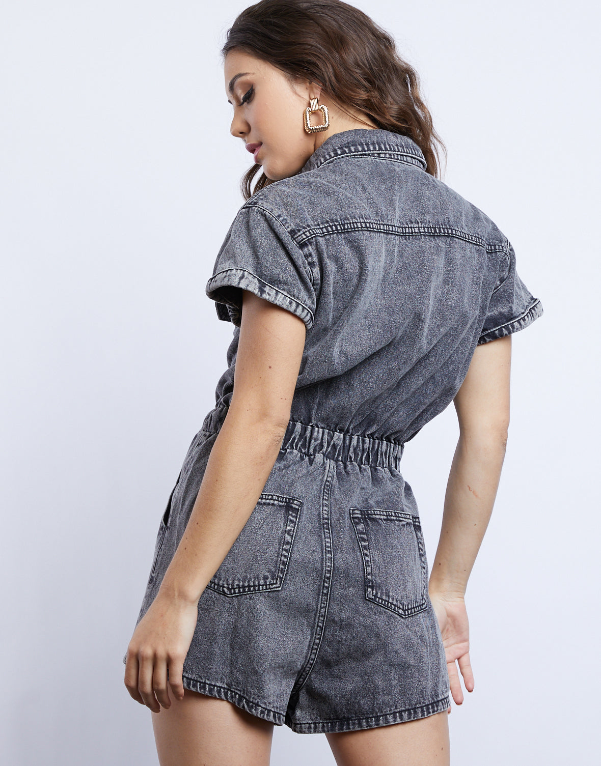 Worn In Denim Romper