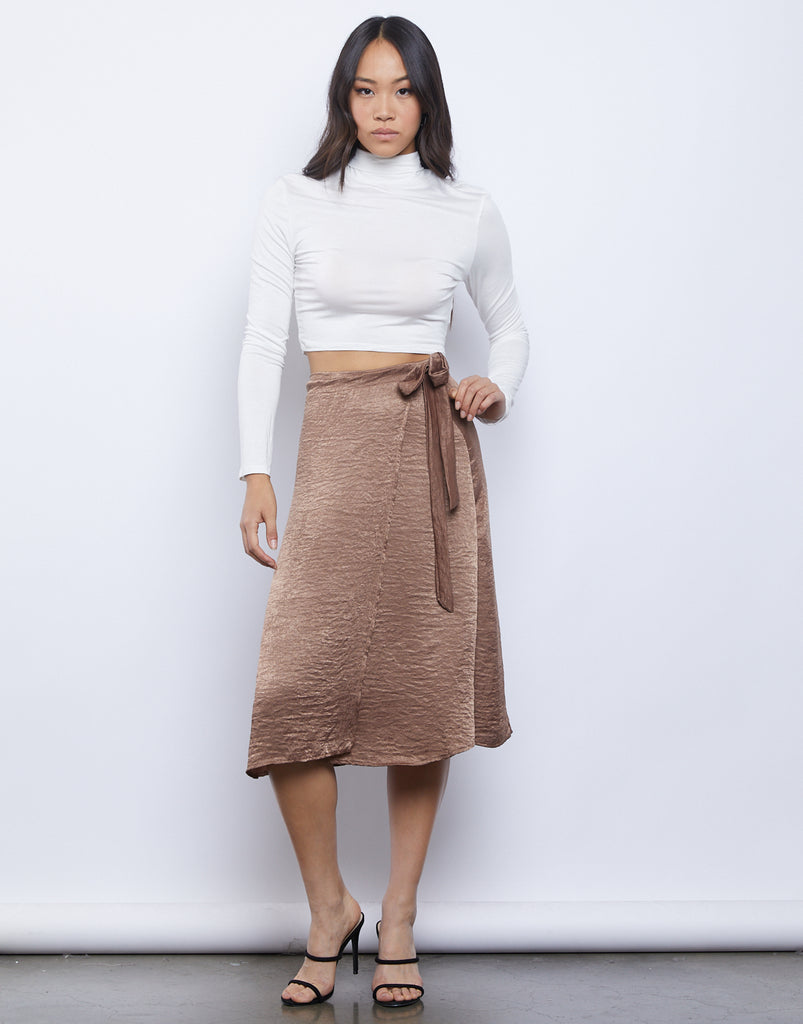 Wrap Around Midi Skirt Bottoms -2020AVE