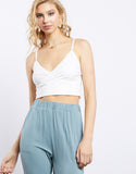 Wrapped In Your Arms Surplice Crop Top