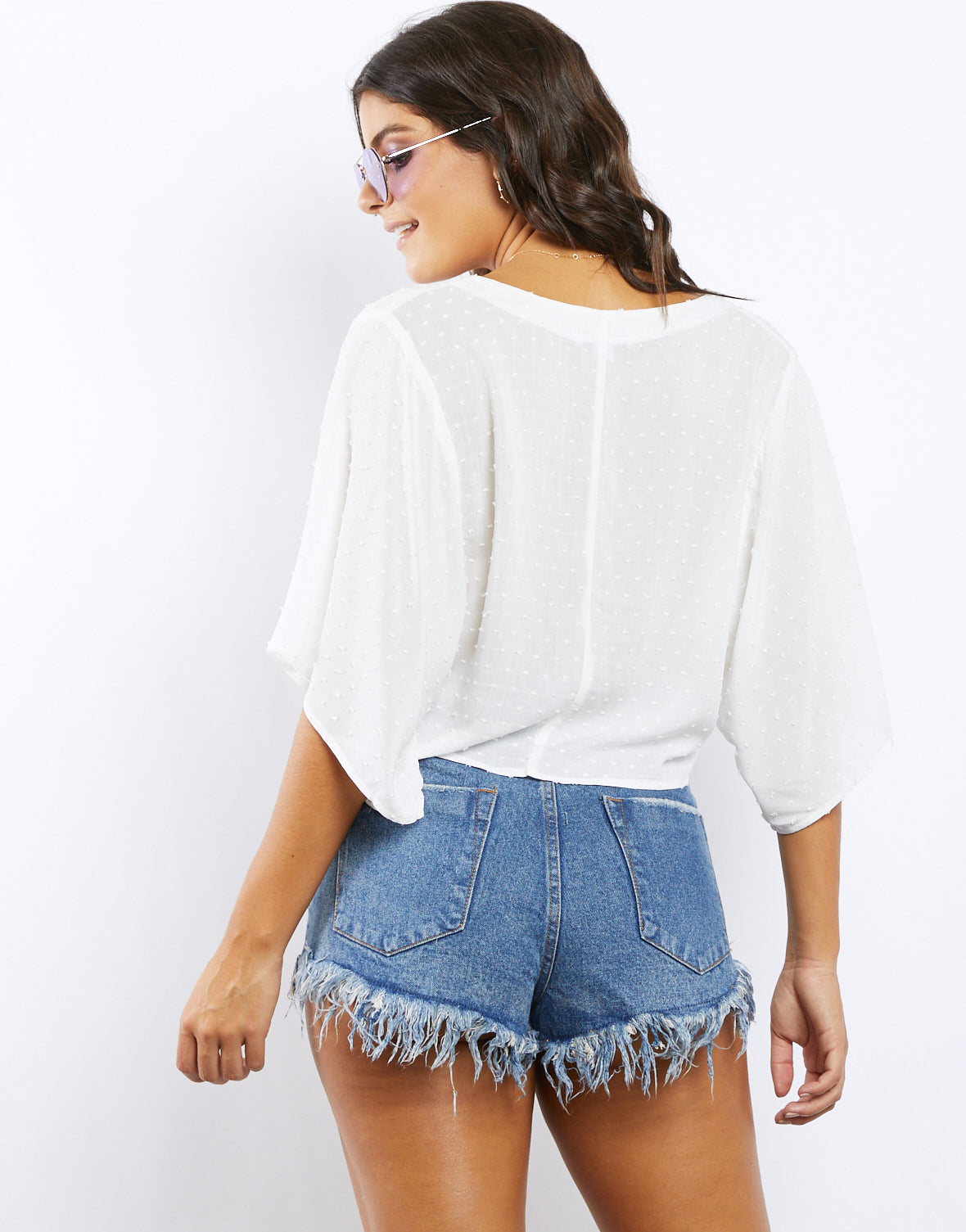 Wrapped It Up Surplice Crop Top