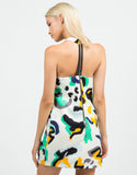 Back View of Abstract Camo Textured Dress