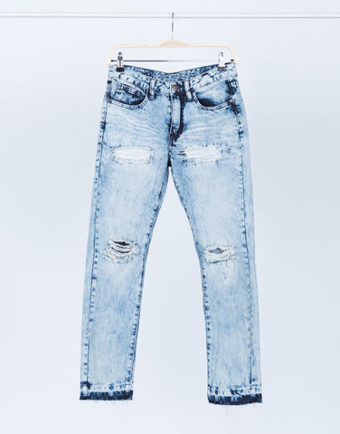 Acid Wash Boyfriend Jeans